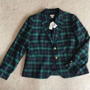 J.Crew Plaid holiday jacket